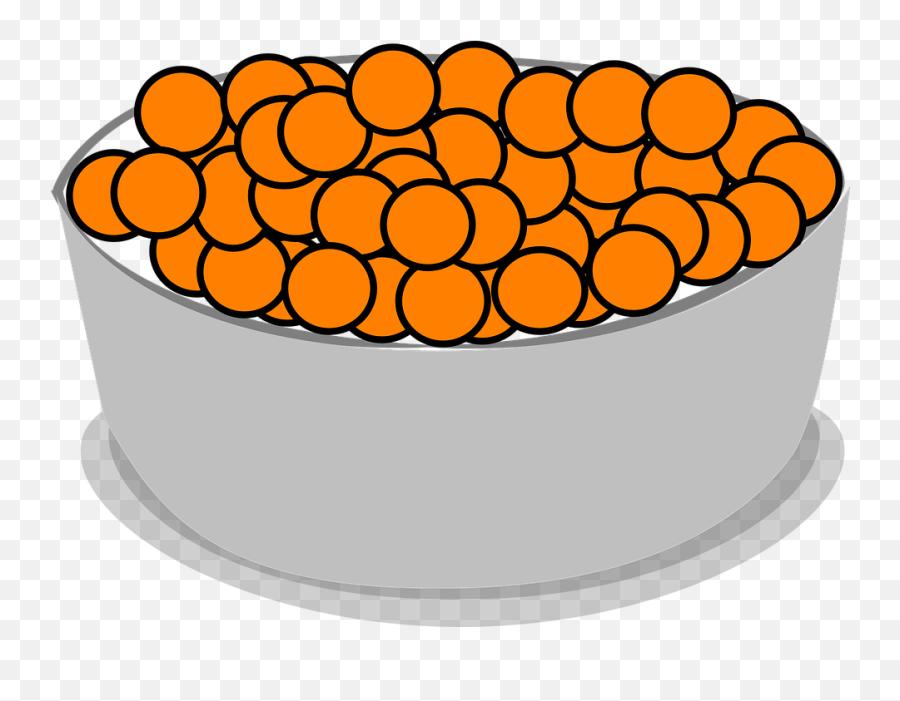 Free Confectionery Candy Vectors - Bowl Of Orange Cereal Emoji