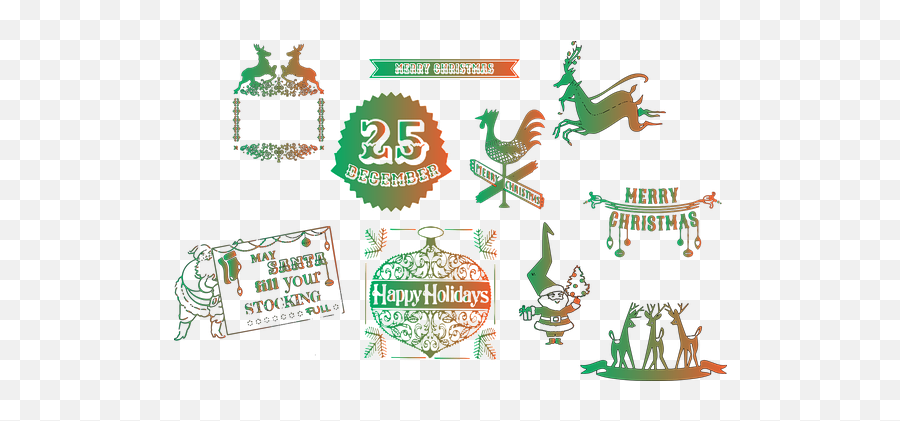 Free Holly Christmas Vectors - Illustration Emoji,100 Pics Christmas Emoji