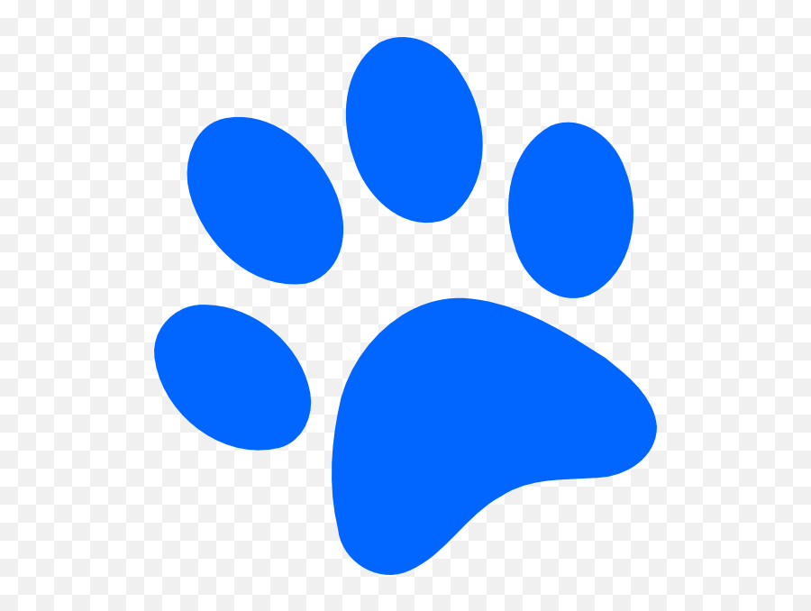 Blues Clues Print One Off My Favorite - Blue Dog Paw Print Emoji