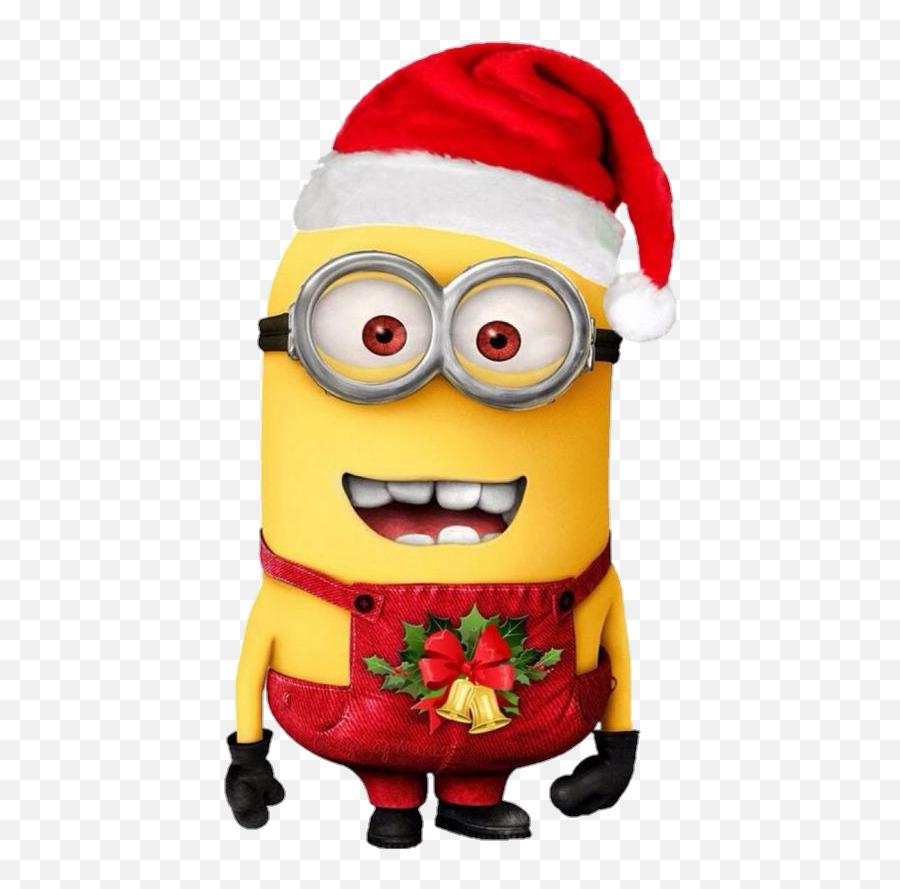Minion Christmas Sticker By Maggie Sanchez Beltran - Ultra Hd Minions Wallpaper Hd Iphone Emoji,Santa Clause Emoticon