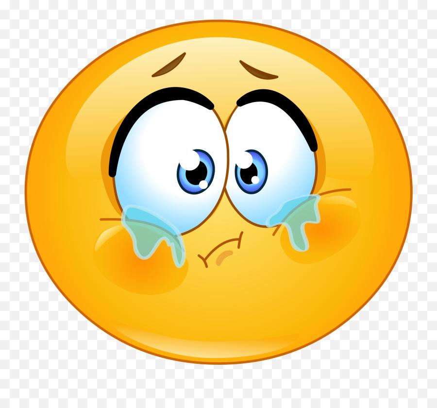Crying Emoji Decal - Sad Emoticon,Crying Emoji