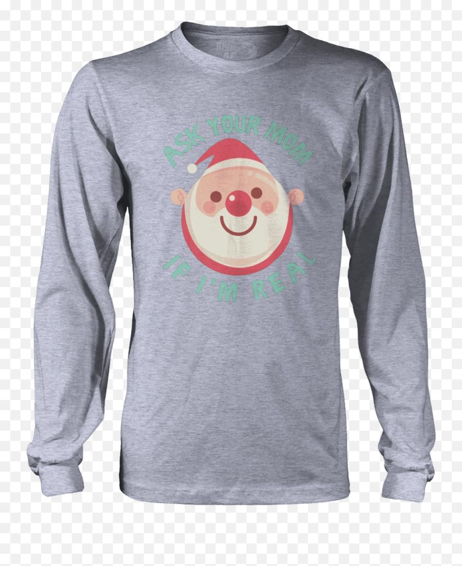 Ask Your Mom American Af - Aaf Nation Hoodie Emoji,Santa Clause Emoticon