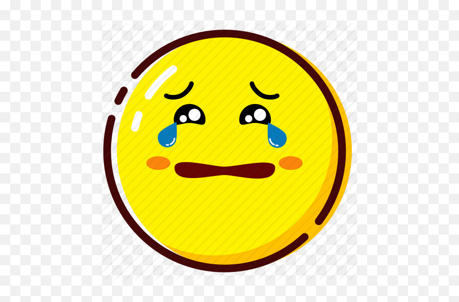 Cute Yellow Emoji - Sad Cute Emoji Faces,Crying Emoji