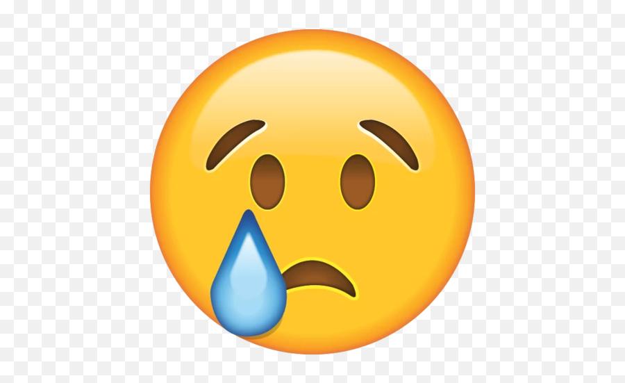 Crying Face Emoji - Emoji Sad Face Transparent Background,Crying Emoji