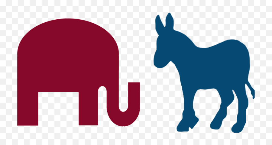 Silhouettes Silhouette Donkey Clip Art - Democratic Party Black And White Emoji,Donkey Emoji Iphone