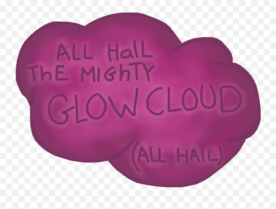 Glow Cloud Glowcloud Cloud Wtnv Wel - Heart Emoji,Hail Emoji