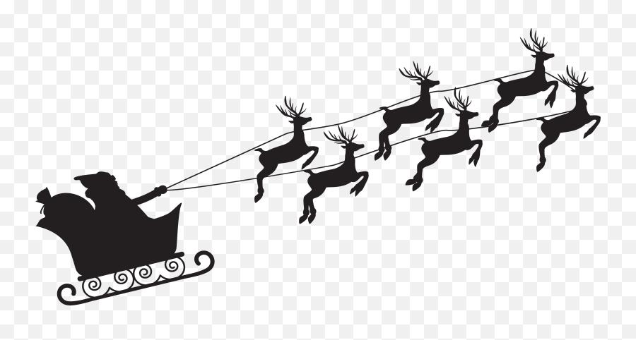 Santa Claus Silhouette Png Clip - Transparent Santa Claus Silhouette Png Emoji,Black Santa Emoji