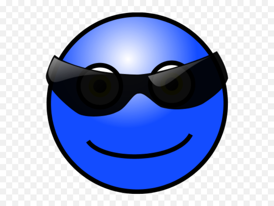 Emoticons Cool Face Vector Clip Art - Smiley Emoji