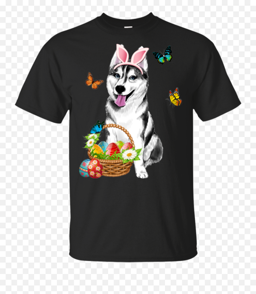 Husky Bunny Hat Rabbit Easter Day Eggs Funny Gift Shirt Va03 - Coronavirus Shirt Meme Emoji,Dabb Emoji