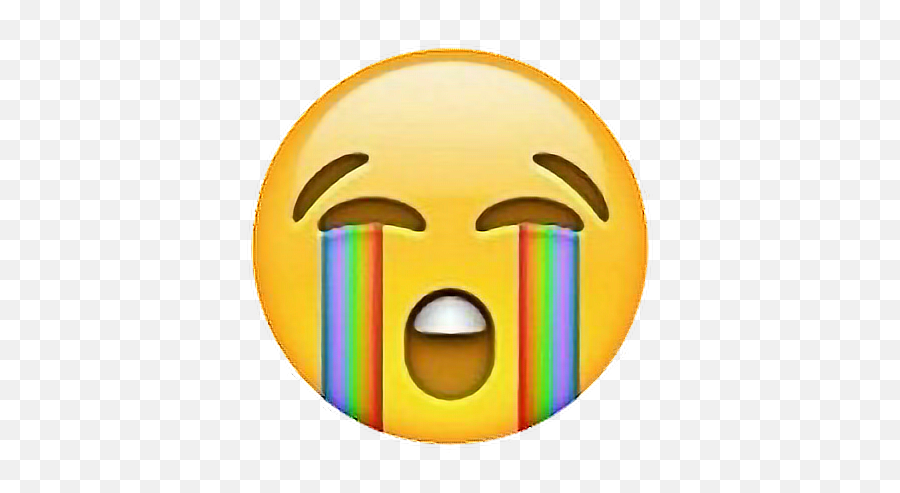 Rainbow Crying Rainbow Cryingemoji Freetouse - Moj Sticker,Crying Emoji