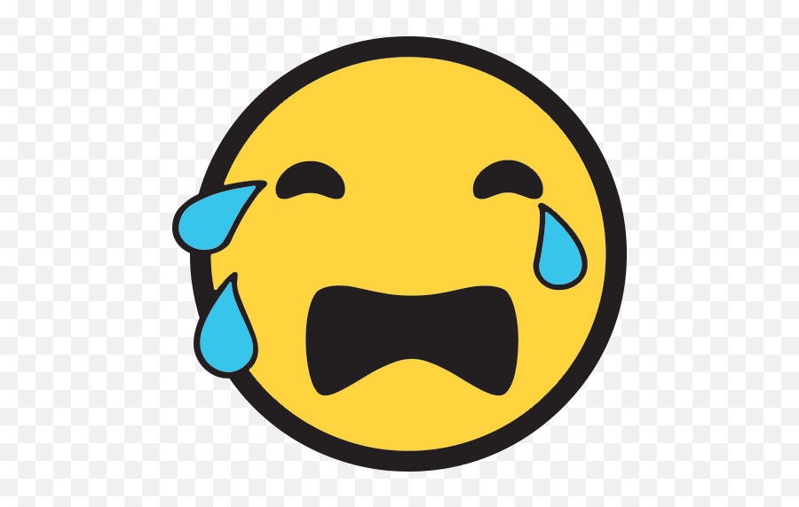 Loudly Crying Face Emoji For Facebook Email Sms - Crying Emoji Windows,Crying Emoji