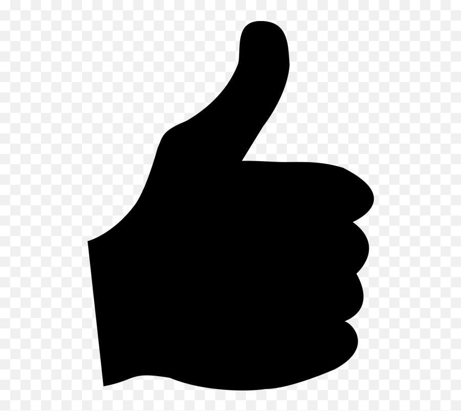 Thumb Up Positive Okay - Vector Silhouette Thumbs Up Emoji