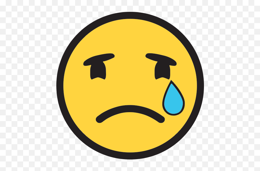 Crying Face Emoji For Facebook Email Sms - Crying Emoji Transparent Simple,Crying Emoji