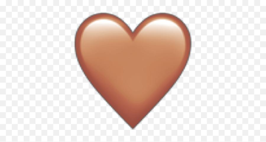 Emoji Emojis Iphone Iphoneemoji Heart - Iphone Brown Heart Emoji,Iphone Peach Emoji