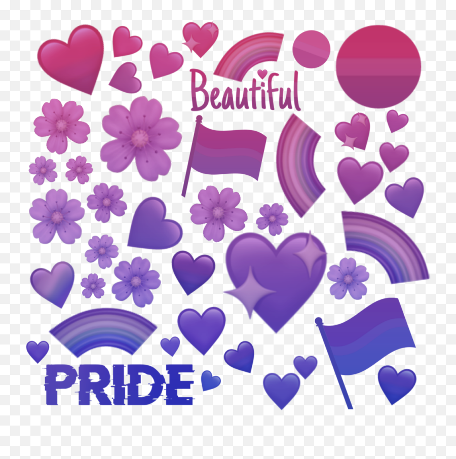 More Of The Bisexual Colors This Time - Heart Emoji