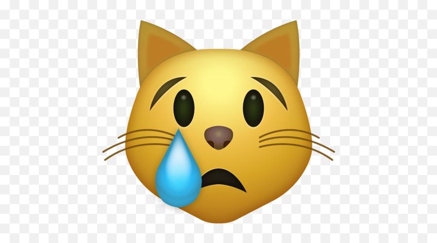 Crying Cat Emoji Iphone - Cat Emoji,Crying Emoji