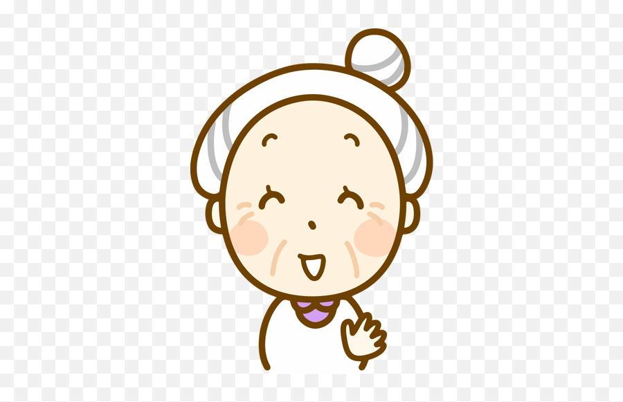 Laughing Old Woman - Cute Old Lady Clipart Emoji,Laughing Emoji Facebook