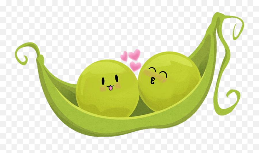 Pod Greenbeans Peasinapod Love - Cute 2 Peas In A Pod Emoji,Peas Emoji