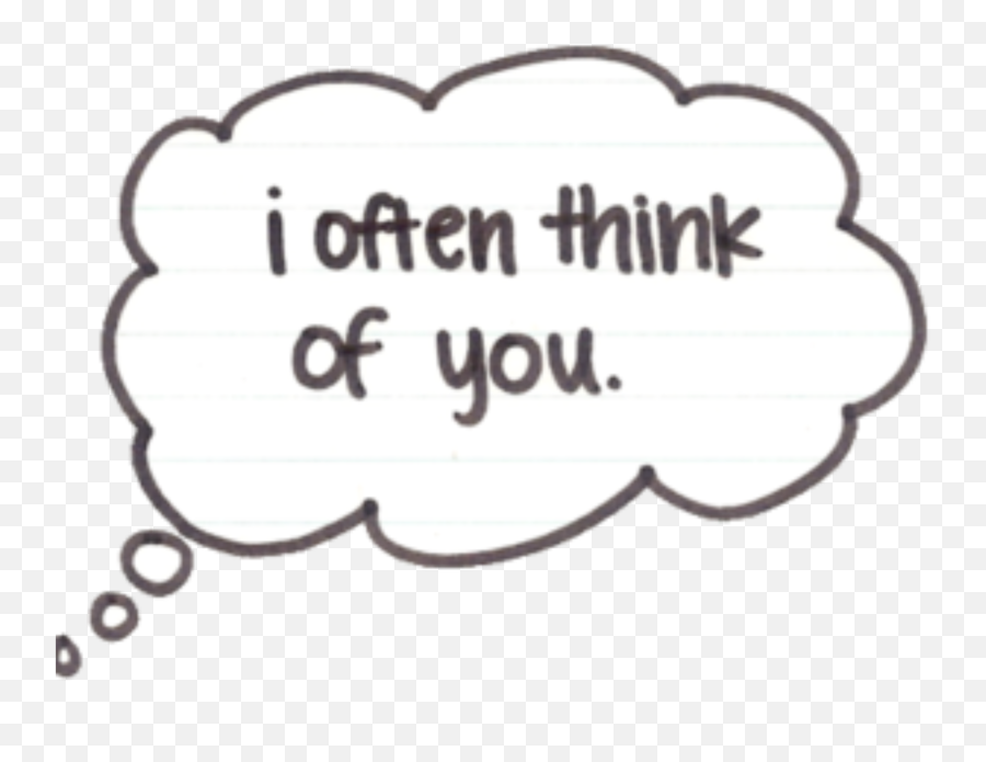 Thinking I Often Think Of You Balloon - Darkness Emoji