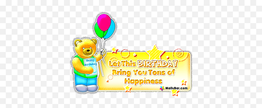 Glitter Birthday Wishes - Birthday Wishes In Malayalam Gif Emoji,Happy Birthday Emoji Text Copy
