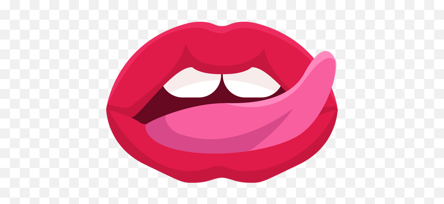Lip Licking Mouth Icon - Mouth Licking Transparent Emoji