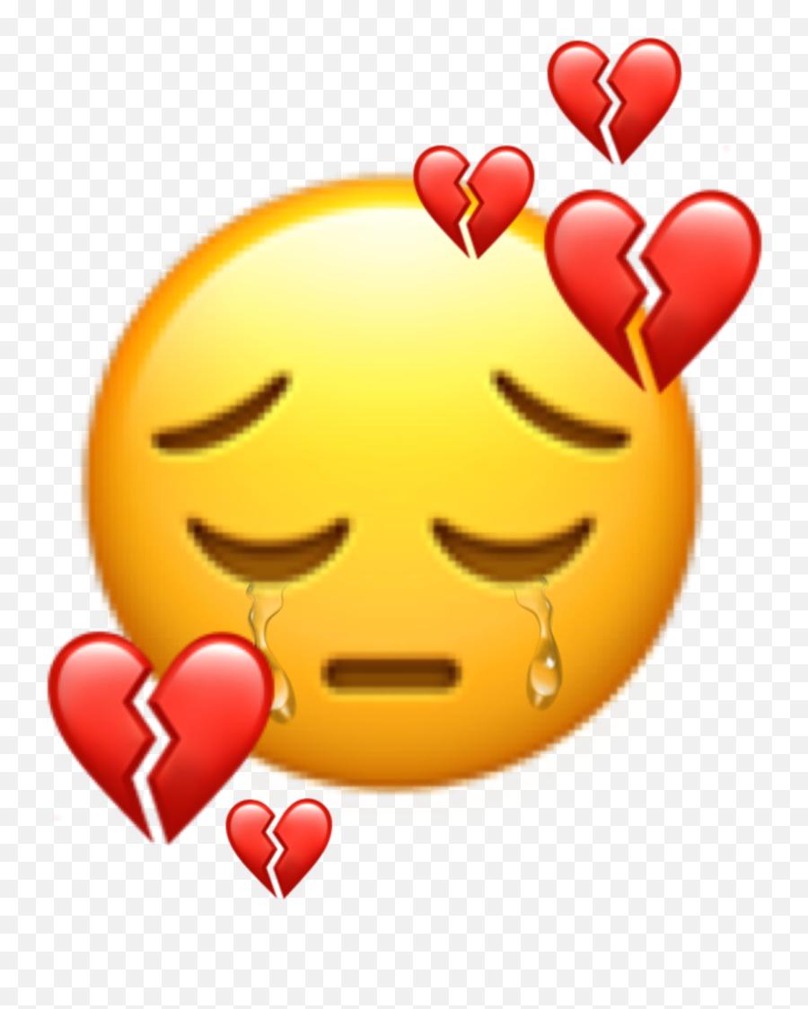 Sad Sademoji Emoji Tears Cry Crying Sticker By Evelyne - Smiley,Crying Tear Emoji