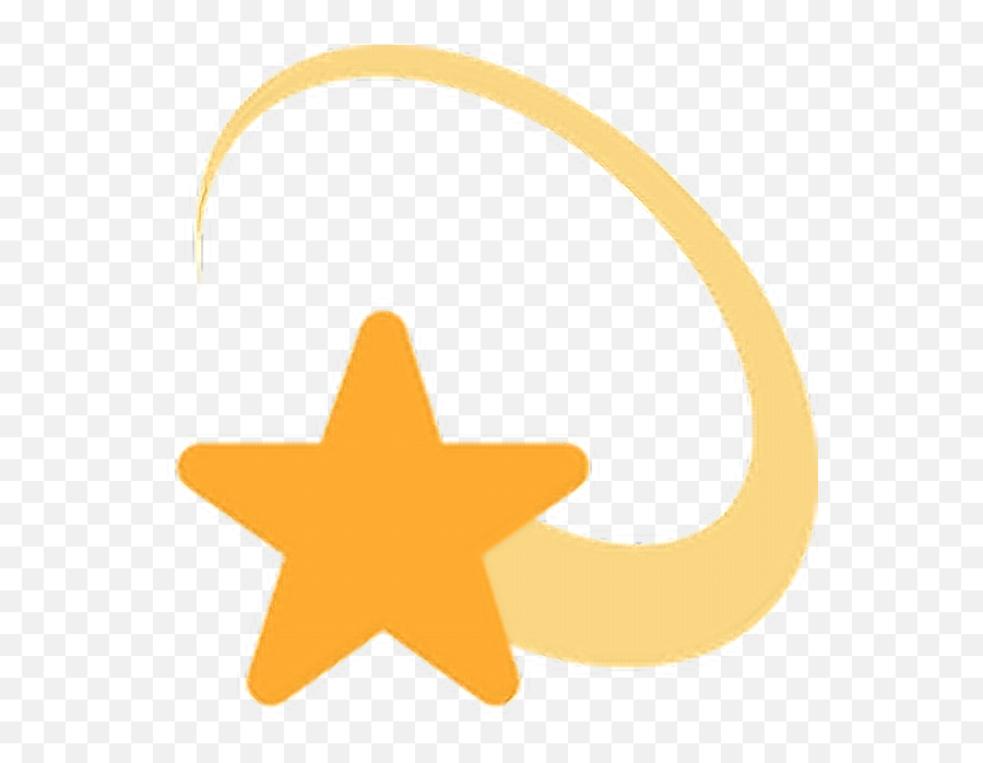Star Twitter Emoji Edit Free Freetoedit - Shooting Star Sign Png