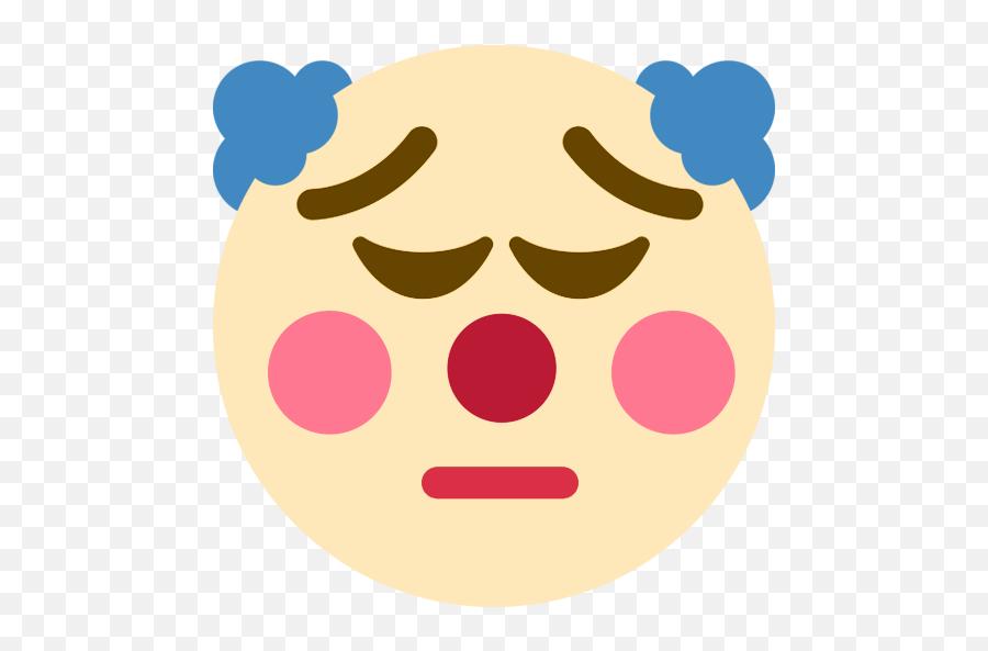 Clownpensive - Pensive Clown Emoji