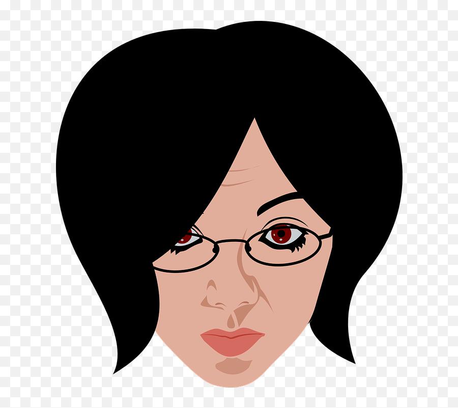 Más De 100 Imágenes Gratis De Nerd Y Gafas - Woman With Glasses Clip Art Emoji