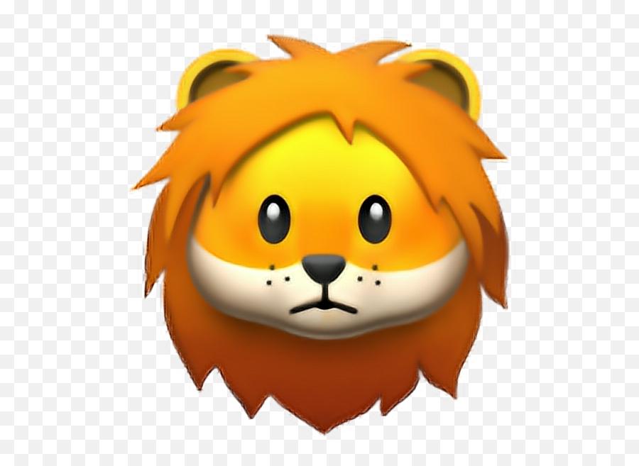 Emojis Apple Ios - Iphone Lion Face Emoji,Apple Animated Emojis
