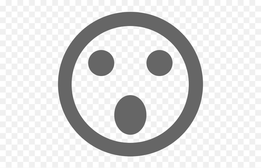 Download Surprised Emoticon Icon - Black Screen Emoji