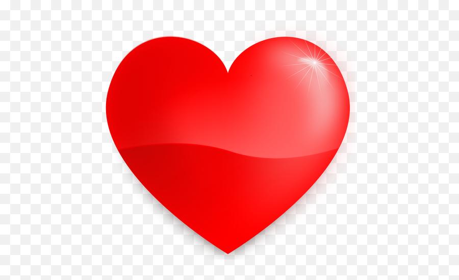 Vector Illustration Of Red Heart - Glossy Heart Emoji