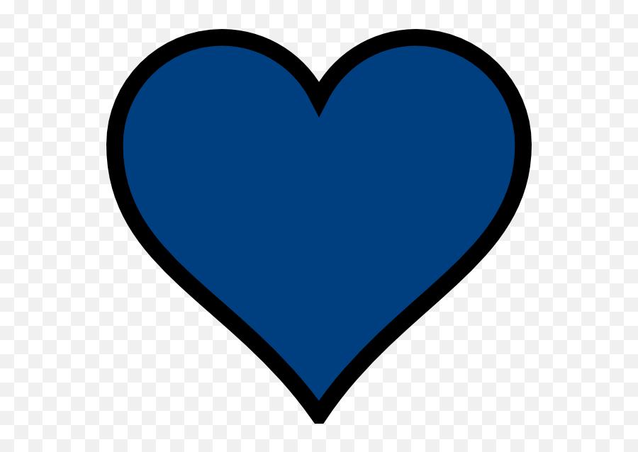 Pink And Blue Hearts Transparent Png - Red Heart Black Outline Emoji