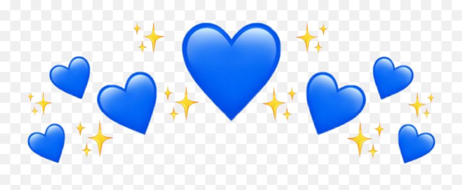 Crown - Blue Heart Crown Png Emoji
