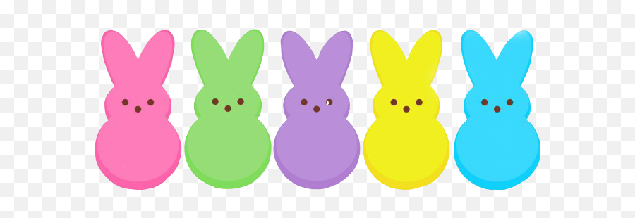 Peeps Easter Bunnyrabbit Eastertime - Transparent Easter Peeps Clipart Emoji