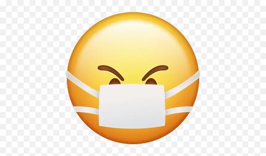 Corona Emoji - Sick Emoji Clipart,Android Emoji Vs Iphone Emoji
