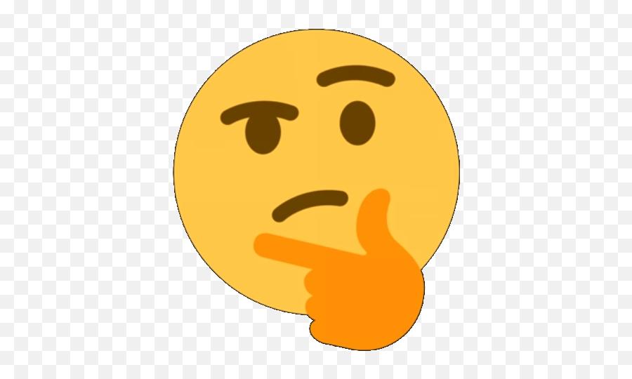 Picture - Transparent Background Thinking Emoji