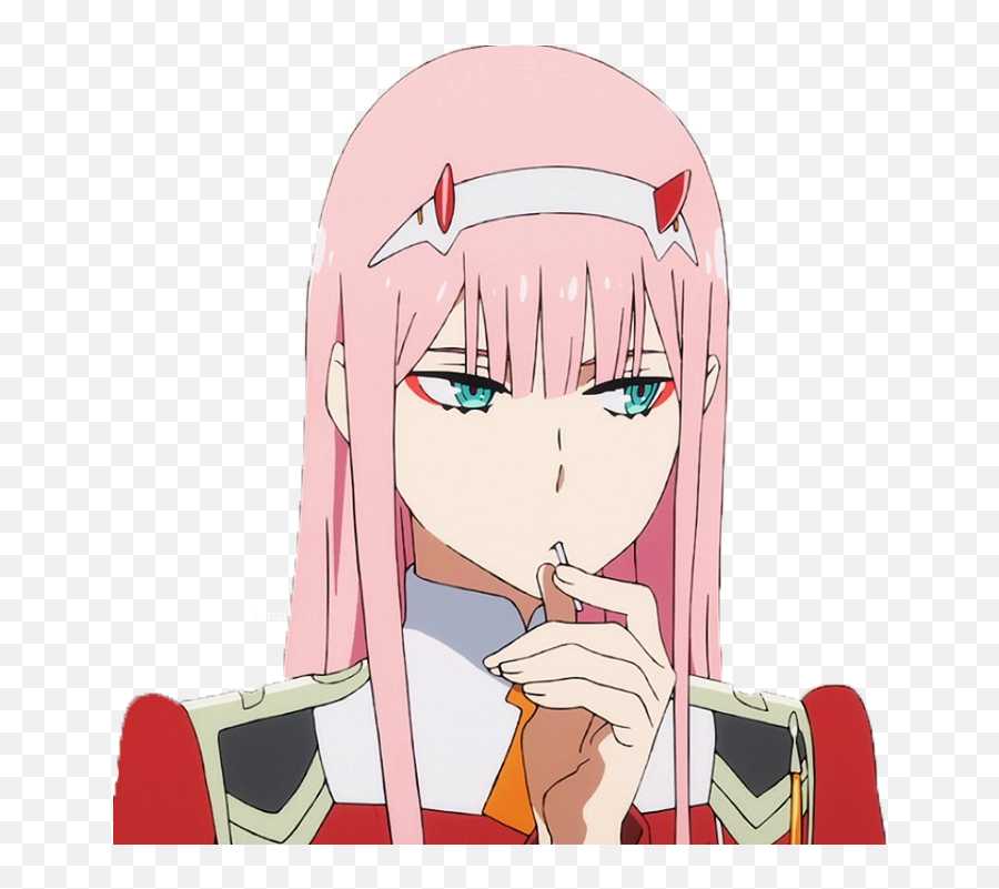 Anime Transparent Background Zero Two - Zero Two Transparent Background Emoji