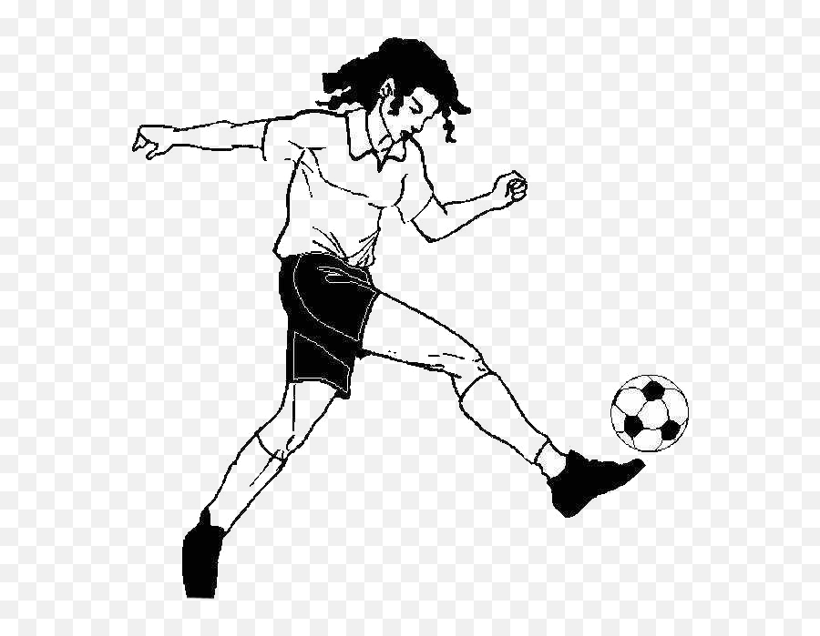 Football Sport Animation Kick - Play football girls png  Girl Playing Sport Animation Emoji
