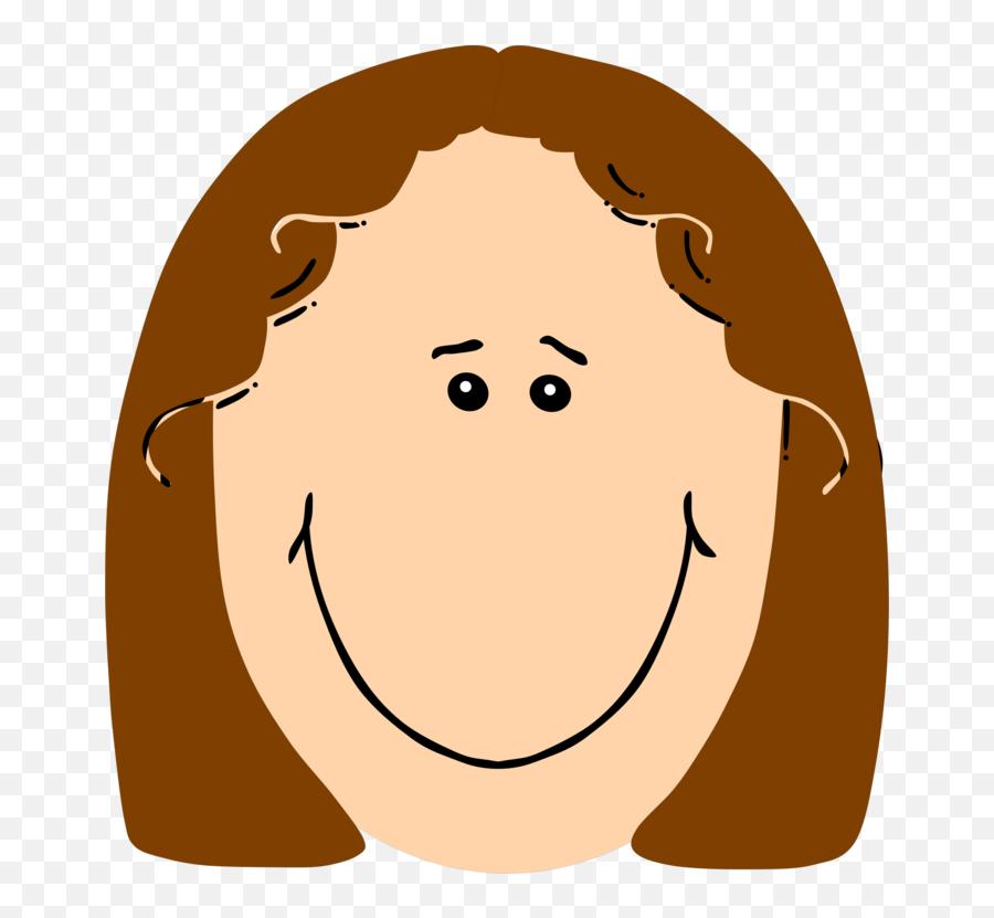 Happy Clipart - Cartoon Girl Face Clipart Emoji