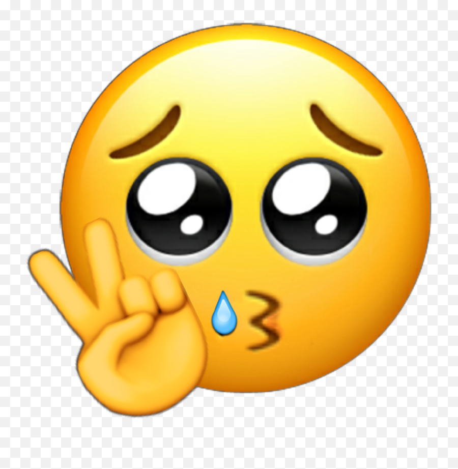 Freetoedit Emojis Edit Edited Emoji - Sad Emoji Peace Sign,Crying Emojis