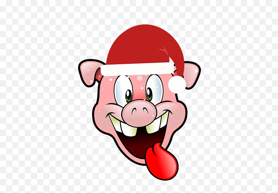 Christmas Pig in Santa Hat Tote Bag - Funny Logo No Copyright Emoji