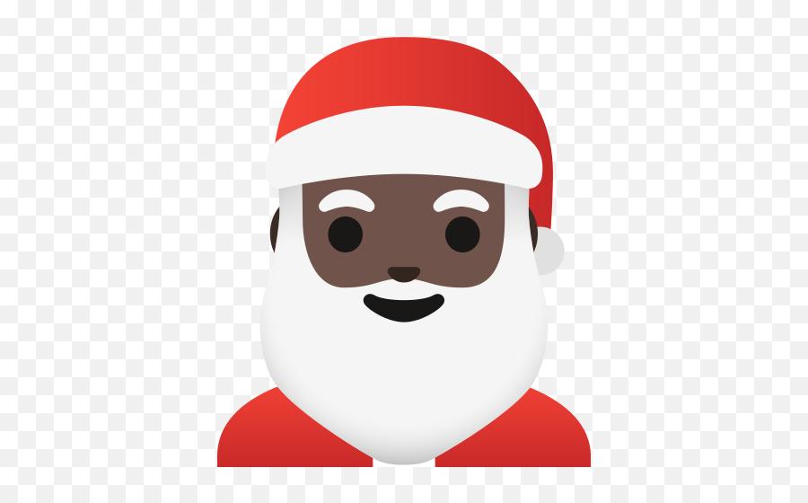 Dark Skin Tone Emoji - Santa Claus Emoji,Black Santa Emoji