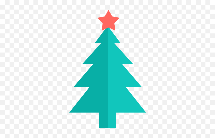 Christmas Tree Icon - Christmas Tree Flat Vector Png Emoji,Christmas Tree Emoji Png