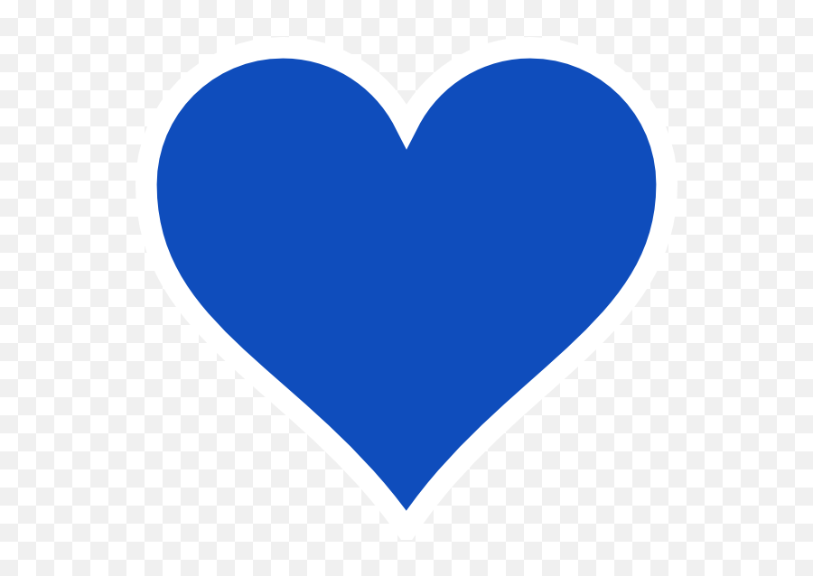 Blue Heart Clipart - Blue Heart Clipart Emoji