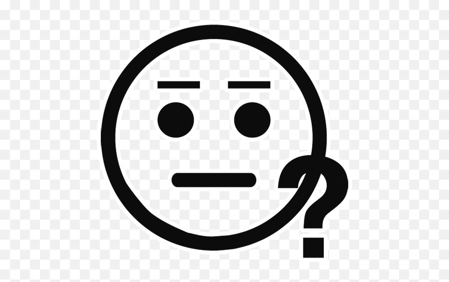 Black Outline Emoji Transparent Images - Smiley