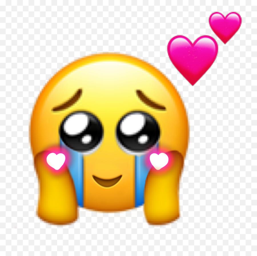 Emoji Hearts Love Cry Tears Sticker - Cute Emojis