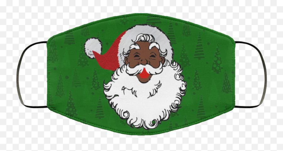 Black Santa Claus Christmas Face Mask - Balenciaga Face Mask Emoji,Black Santa Emoji