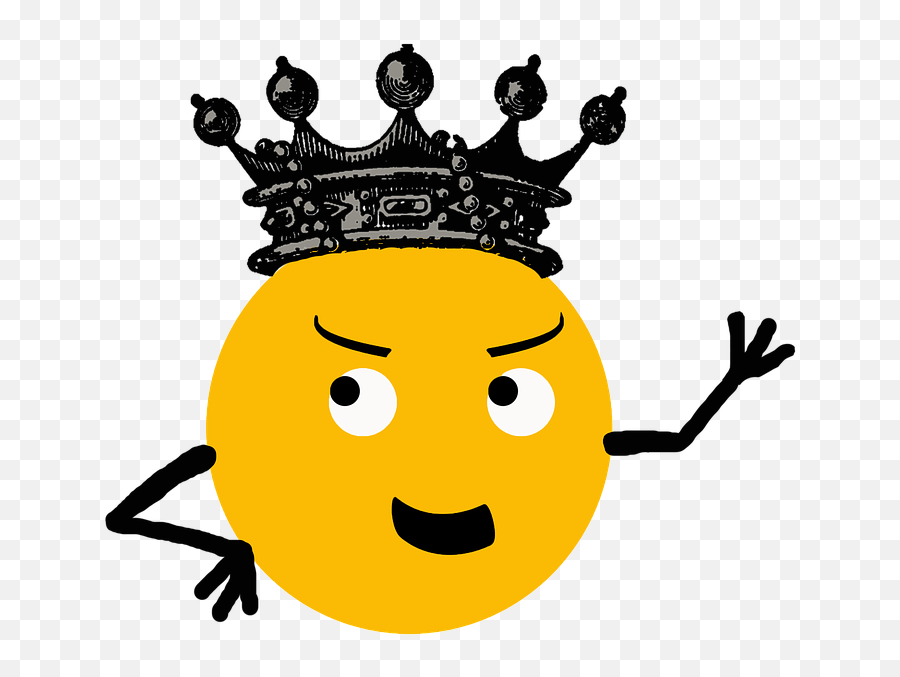 Smile Internet Crown - Free Image On Pixabay Happy Emoji,Crown Emoticon