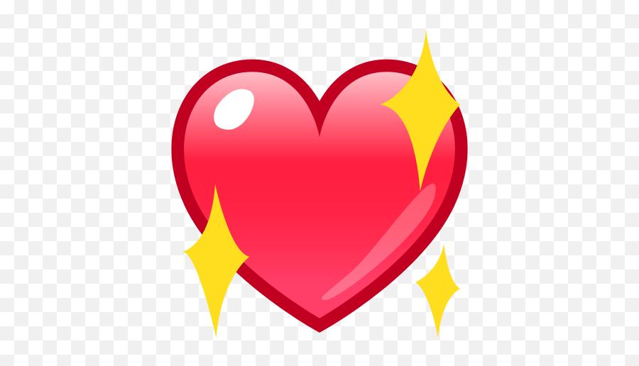 Sparkling Heart Emoji For Facebook Email Sms - Transparent Sparkle Heart Emoji,Sparkling Heart Emoji
